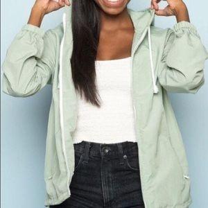 Brandy Melville nyc exclusive windbreaker hoodie